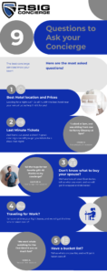 Questions to ask your concierge infographic